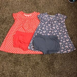18 months Girls Dresses w/ Diaper covers (both)